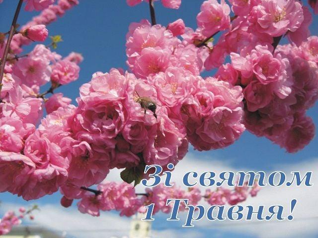 привітання з 1 травня листівки