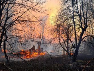 Чернобыль, пожар