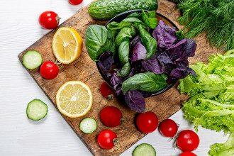 овощи_помидоры_огурцы_салат_лимоны