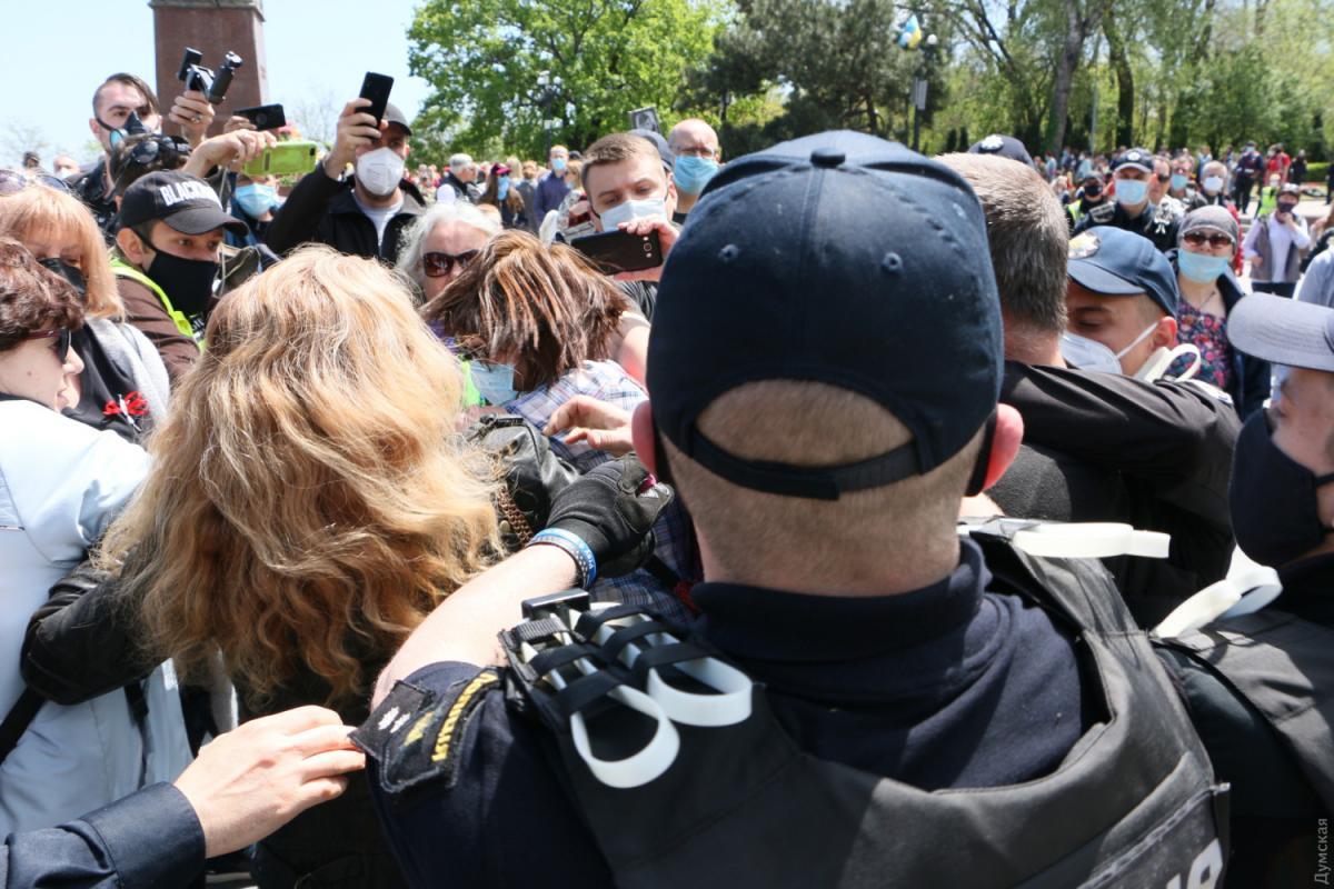 В Одессе произошли стычки на торжествах ко Дню победы