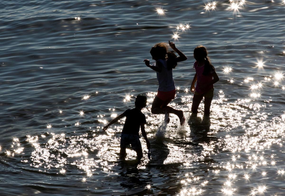 дети,вода,лето