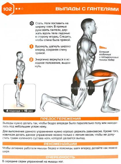 Похудеть в ногах могут помочь выпади – Как похудеть быстро