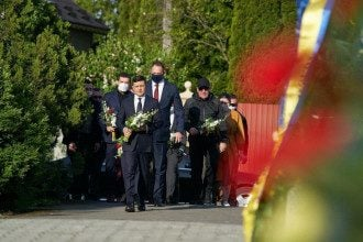 Зеленский на Закарпатье почтил память погибших воинов / Офис президента