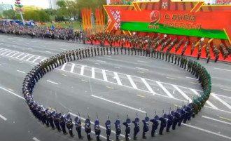 Лукашенко провел парад Победы в Минске / скриншот из видео