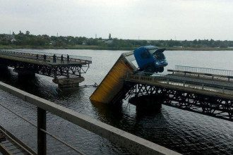 В селе Алексеевка Днепропетровской области рухнул мост