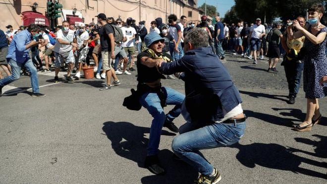 протесты в Италии