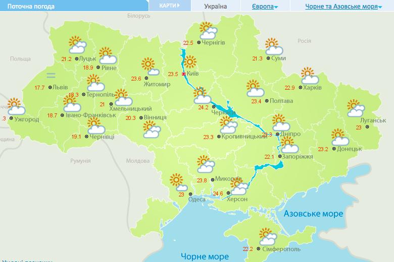Погода на сьогодні / meteo.gov.ua