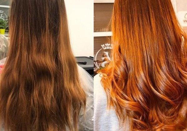 Фарбування волосся хною