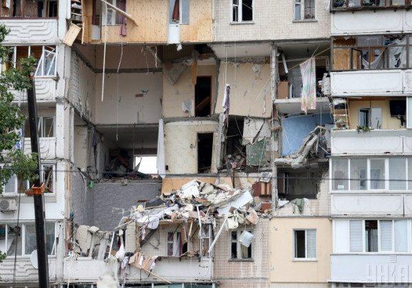 Вибух у житловому будинку в Києві