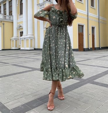 Платья с открытыми плечами