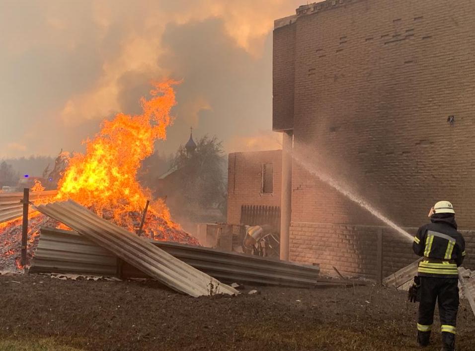 Луганщина,пожар