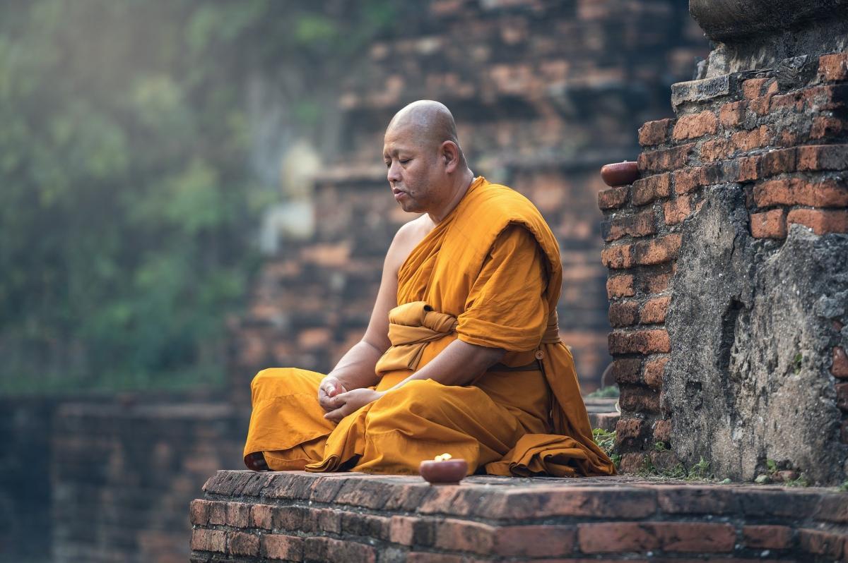Медитація,чернець,тибет