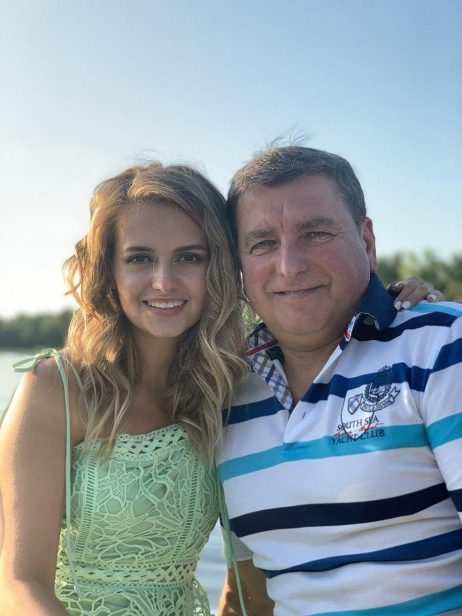 Юлия Панкова и отец