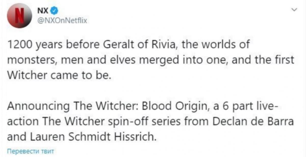 Ведьмак: Истоки крови - Netflix снимает еще один спин-офф сериала