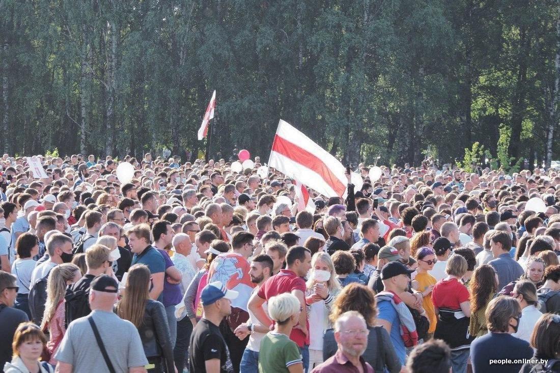Рекордный митинг в Минске