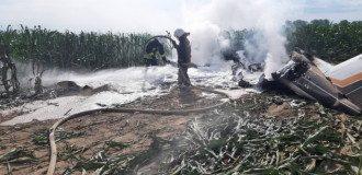 Новини Києва - в області впав і згорів літак