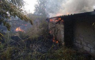На Донбассе вспыхнул пожар - фото novynarnia.com