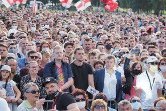 На митинг в поддержку Светланы Тихановской собрались около 25 тысяч человек/ people.onliner.by