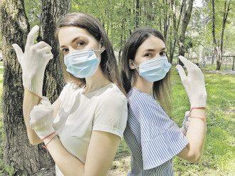 коронавірус, маска, рукавички