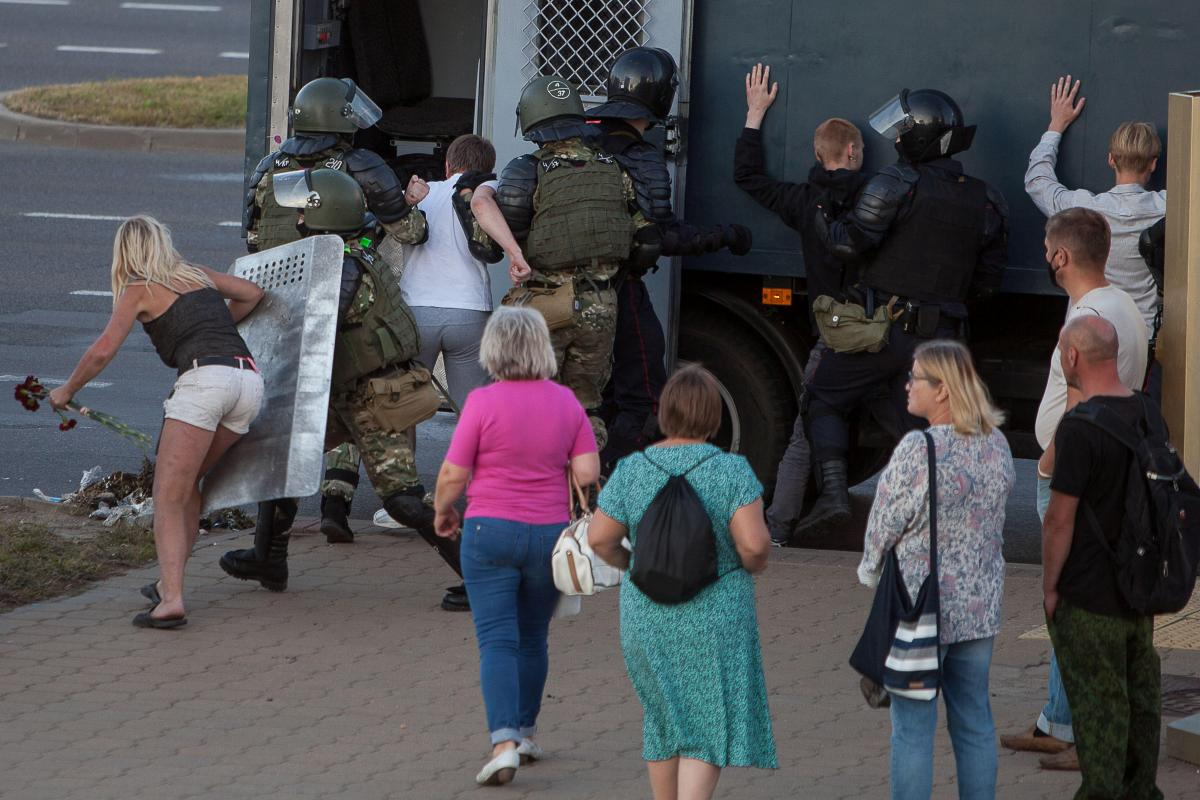 Протесты, Минск