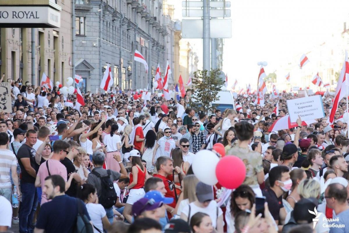 Самый многолюдный митинг в Беларуси