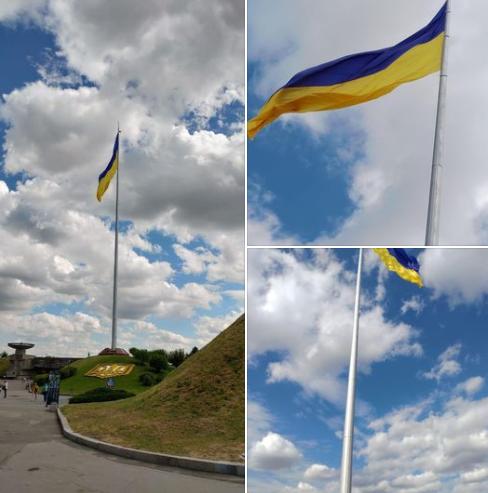 Мер повідомив, що у Києві перевіряли стан найбільшого прапора України та флагштока – Новини Київ