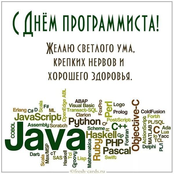 поздравление для программиста в коде