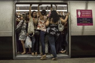 Женский вагон в метрополитене Рио-де-Жанейро / Tumblr.com