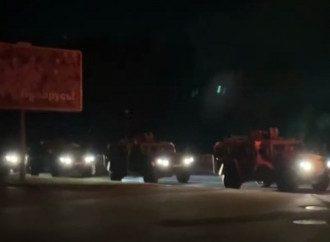 В Минск свезли военную технику / скриншот из видео