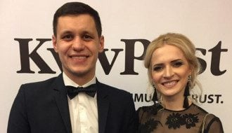 Роман Грищук с женой