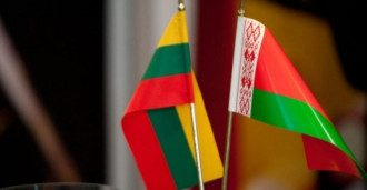 флаги Литва-Беларусь_литовский флаг_белорусский флаг