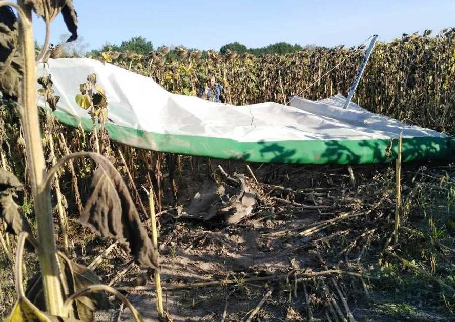 На Житомирщине разбился дельтаплан, погиб пилот
