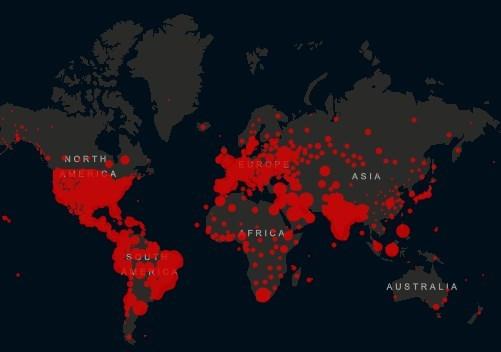 Коронавирус в мире - карта на 14 сентября