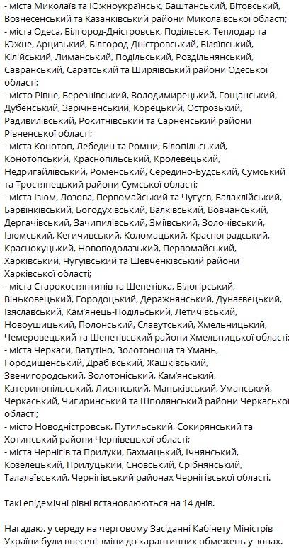 """В Украине изменили зоны карантина: кто попал в """"красный"""" список"""