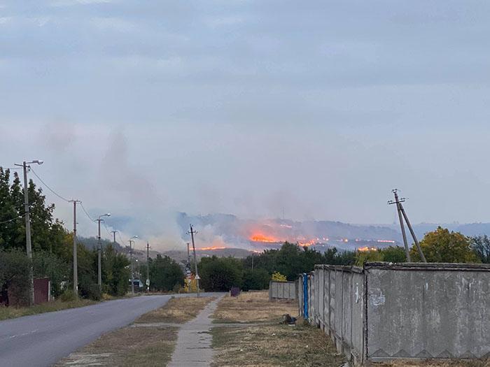 Пожежа під Краматорськом
