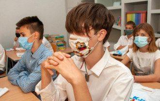 Дети в масках, коронавирус