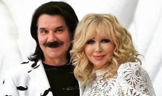 Павло Зибров с женой