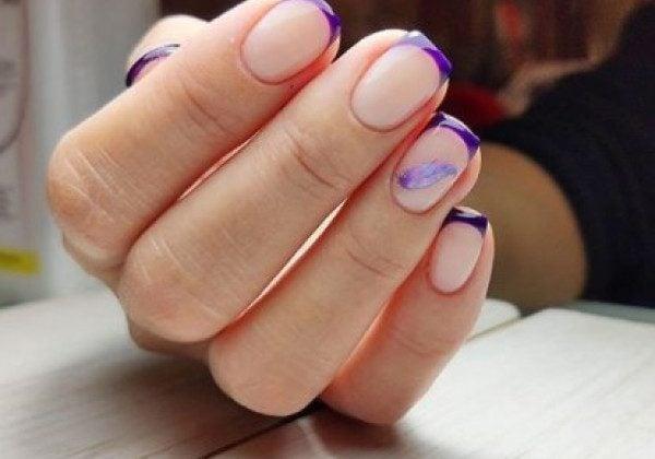 Фиолетовый маникюр осень 2020