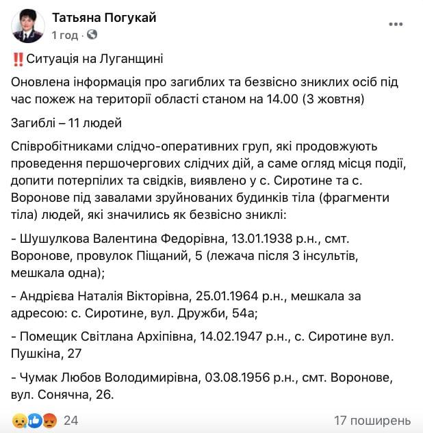 Мощные пожары на Луганщине: число жертв возросло