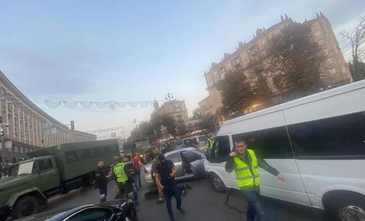 В центре Киева со стрельбой задержаны разбойники-иностранцы