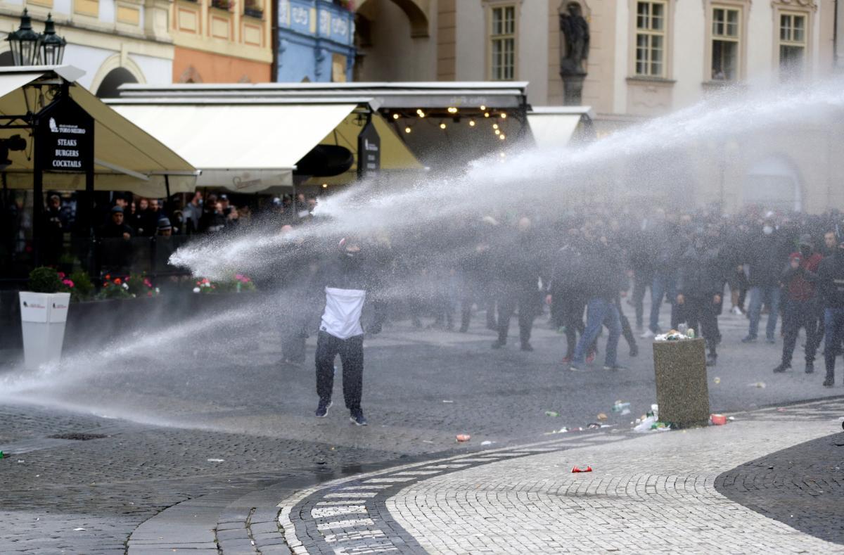 Протест против карантина в Чехии