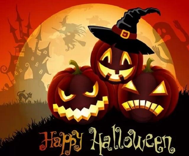 открытки и гифки на Хэллоуин скачать бесплатно