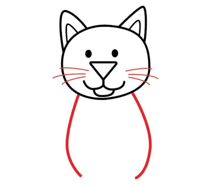 Как нарисовать кота: простая инструкция
