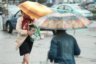 дождь,зонты