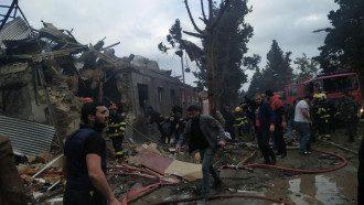 Разрушения в Гяндже / t.me/ArmenianVendetta