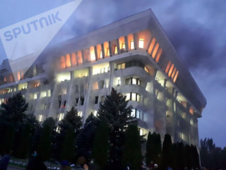 Пожежа в парламенті Киргизстану
