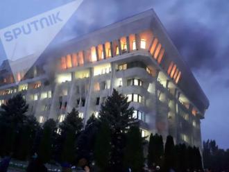 Пожар в парламенте Кыргыстана