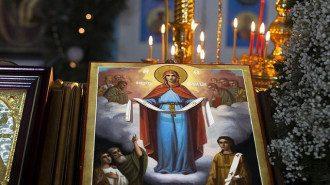 Покров Пресвятой Богородицы 2020 - дата, приметы, молитва. Покров Пресвятой Богородицы. Икона