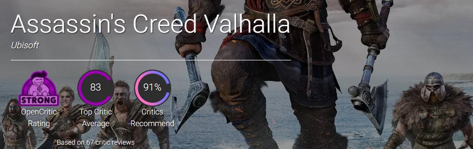 Появились первые отзывы критиков о Assassin's Creed Valhalla. Чуда не случилось