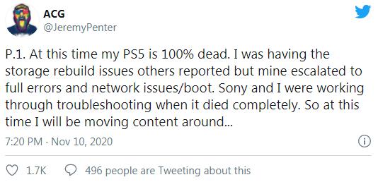 """""""Моя PS5 мертва"""": блогер рассказал, как его новехонькая консоль превратилась в кирпич"""
